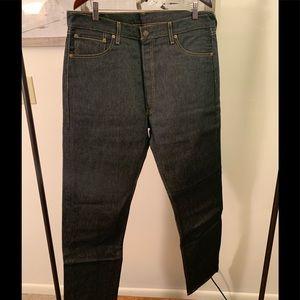 Levi's 501 Button Fly Raw Denim Jeans 36x34